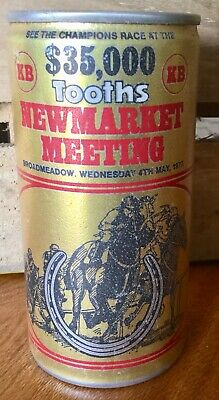 Tooths KB Lager. $35,000. Newmarket Meeting 1977. 370ml. Alloy Beer Can.