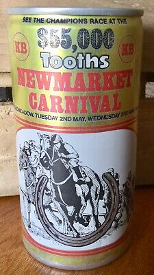 Tooths KB Lager. $55,000. Newmarket Carnival 1978. 370ml. Alloy Beer Can.