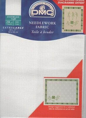 DC58A 3865 Pack of DMC Antique White 28ct Evenweave Needlework Fabric 50 x 68cm