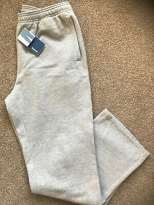 "REEBOK ""FLEECE"" GREY TRACKSUIT BOTTOMS size XL (BNWT) W37""-41"" X L33.5"""