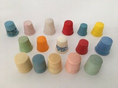 Plastic and Xylonite Thimble Collection