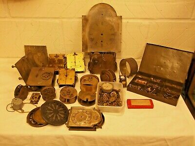 A Large Amount Of Clock Parts For Sale As One Lot.....