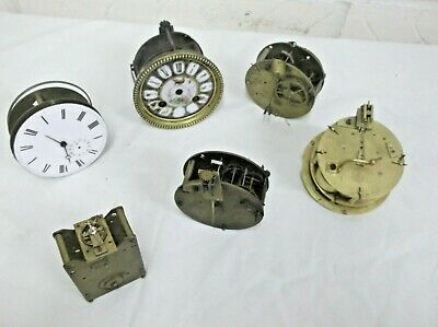 French & Swiss Clock Movement For Parts Or Restore.