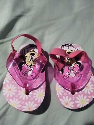 Minnie Mouse Baby Sandals Size 3-6 Months 1/2 Pink