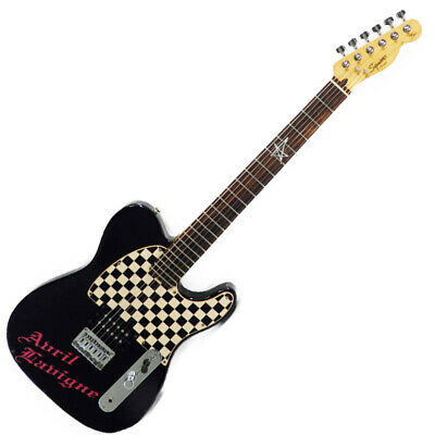 Electric guitar Squier Avril Lavigne Telecaster Black Basswood body Maple USED