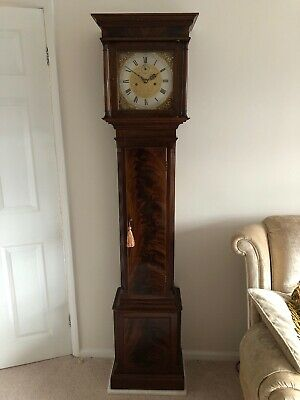 A beautiful Georgian Oak, Mahogany & Inlaid Longcase Grandfather Clock