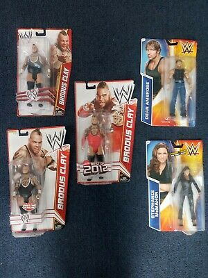 Wwe Mattel figures Lot Of 5 Some Rare Stephanie McMahon dean ambrose( Moxley)