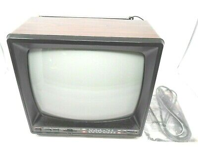 "Vintage Emerson 12"" Portable TV Television Radio Tube Type CRT"