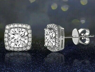 Surgical 316L Stainless Steel Stud Earrings Cubic Zircon Square