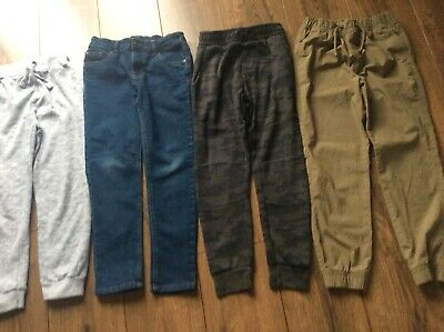 Boys Age 8-9 Years Clothes Bundle 4 Pairs Jeans Joggers Trousers