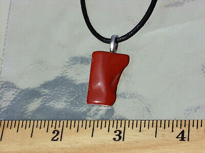 Red Jasper Shaped Polished Stone Crystal Pendant Necklace - Energy, Root Chakra