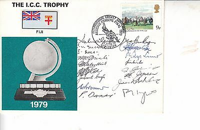 Cricket Cover 1979 SIGNED FIJI TEAM SIGNED, 16 HAND SIGNED signatures