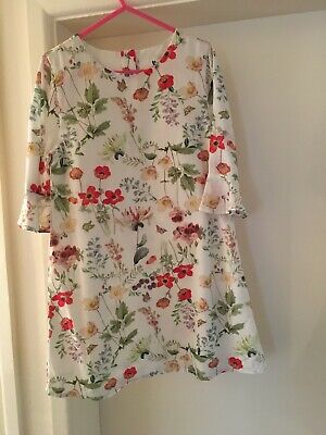 V By Very Girls Floral Dress 4 - 5 Years BNWOT
