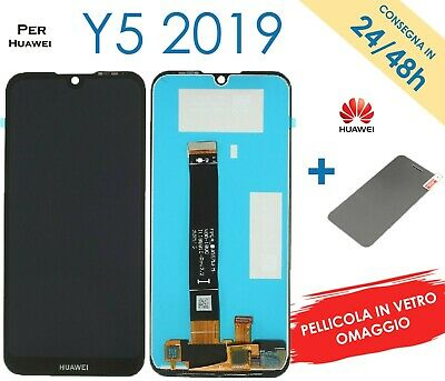 Display Schermo Lcd Per Huawei Y5 2019 Amn-Lx1 Lx2 Lx3 Touch Screen Vetro Nero