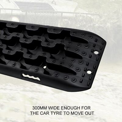 Pair 10T Black 4WD Recovery Tracks Off Road 4x4 Snow Mud New Sand Track