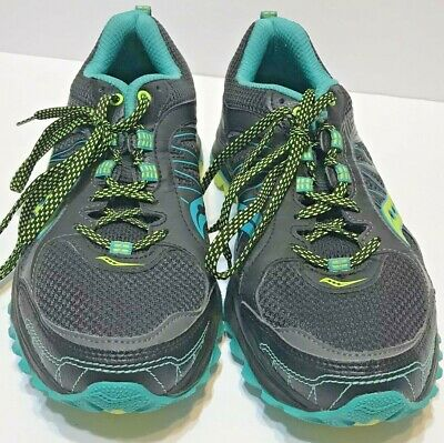 SAUCONY GRID EXCURSION TR9 Womens Trail Shoes Blue Green