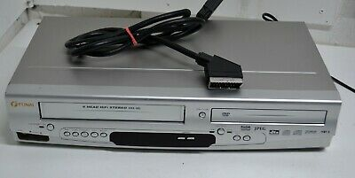 FUNAI DVD Player / Video Recorder VHS Combo DBVR-7510 Silver Working Quality