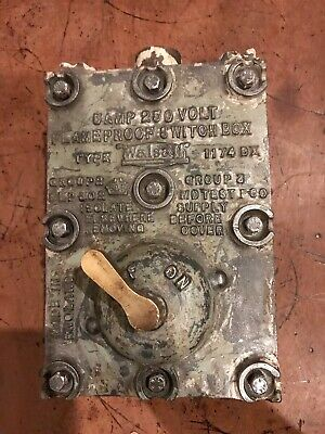Vintage Walsall Cast Iron Brass Explosion Proof Switch