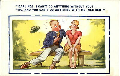As new Condition Vintage 1970/'s Bamforth/'s COMIC Postcard up second Time #362