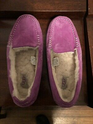 UGG Ansley Pink Moccasin Slippers Women's size 8