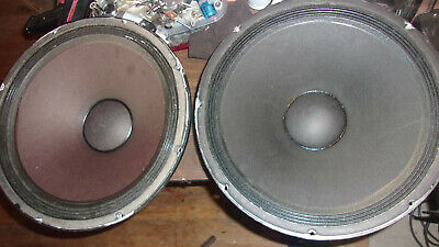 """2 Electro Voice EVM 15B 15"""" Woofer TESTED WORKING No Issues 8 Ohms"""