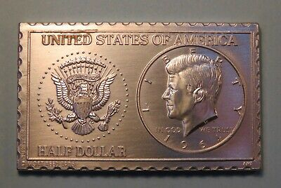 1964 United States JFK Kennedy Half Dollar Numistamp Medal Coin 1976 Mort Reed
