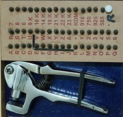 Ring marking stamping pliers gold silver with all marking stamps A to Z,0-9,
