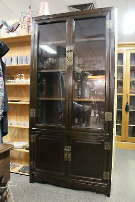 An Oriental Glazed Bookcase - Chinese Display Cabinet