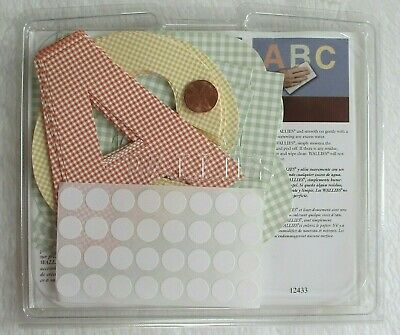 Pottery Barn Kids A B C Letters Wall Paper Cutouts Pastel Colors Gingham