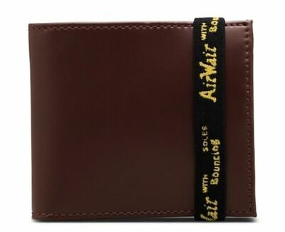 DR. MARTENS LEATHER ELASTIC WALLET, Cherry Red