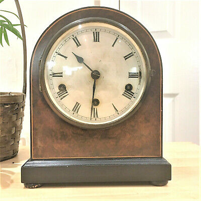 Antique 20's Kienzle Germany 8-day Chiming Mantel Clock, Looks Good Working Well