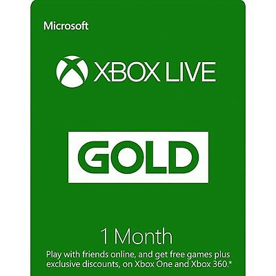 Xbox Live Gold 1 Month Keys Xbox One - Global - 28 Days - See Description