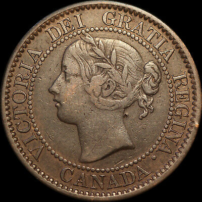 1859 Queen Victoria Large Canadian Cent With D/P N In Cent Haxby PC59-34 18+E20