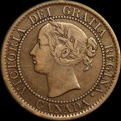 1859 Queen Victoria Large Canadian Cent With D/P 0 In One Haxby PC59-165  47a+J6