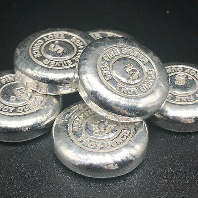 1/2 Oz Button Round - Yps Yeager Poured Silver - 999 Fine Silver Bullion #20