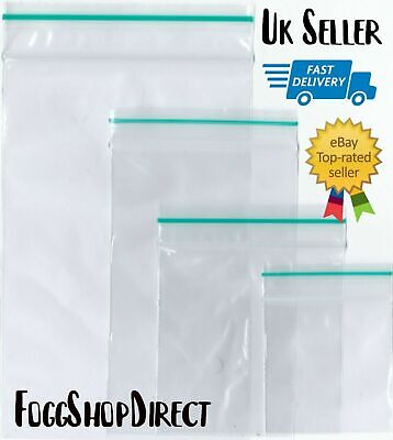 100 Clear Plastic Bags Baggy Baggies Grip Self Seal Resealable Zip Lock Plastic