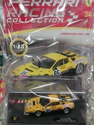 FERRARI 512 BB yellow 24H LE MANS 1978 FERRARI RACING C. #34 Mib 1:43 DIE-CAST
