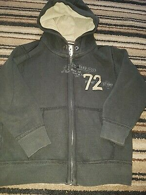 Next Boys Hooded Jacket Age 6 yrs. Dark Grey. Zip-up. Union Edition