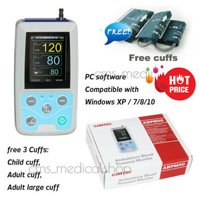 CONTEC Handheld 24hours Ambulatory Blood Pressure Monitor with PC Software