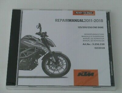 KTM 125 Duke duke 125 Reparaturanleitung Repair Manuel CD 11-17