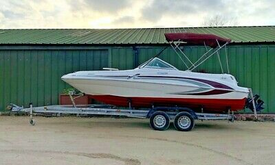 Sea Ray 210 Sundeck 21' Sports Boat Bow rider; inc trailer & new engine