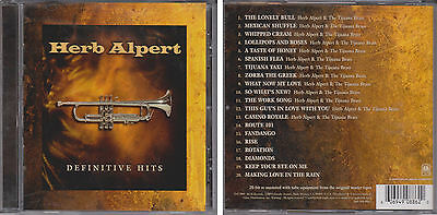 HERB ALPERT & TIJUANA BRASS Definitive Greatest Hits Collection 2001 CD Best of