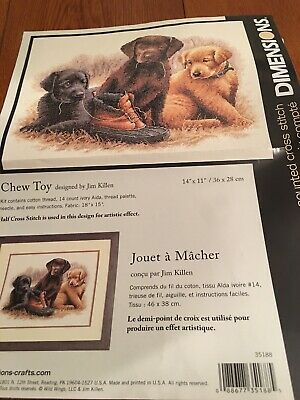 Dimensions Counted Cross Stitch Kit 'Chew Toy' by Jim Killen