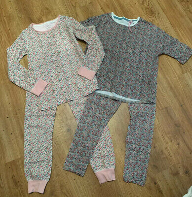 Next Girls Floral Pyjamas 2 Pairs Hardly Worn Age 6 - 7 / 7 Years