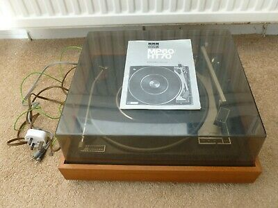 Vintage Bsr Mcdonald Mp60 Record Player Deck Turntable & Manual Spares Or Repair