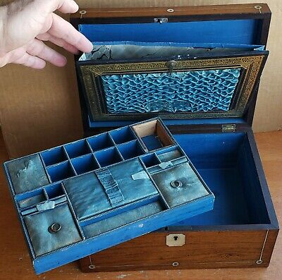 Antique Vanity Box Travelling Case Victorian Edwardian