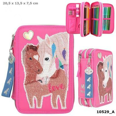 New Miss Melody  Triple Filled Pencil Case Pink Design