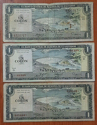 EL SALVADOR 1 Colon Banknote World Paper Money UNC Currency Pick p125b 1980 Bill