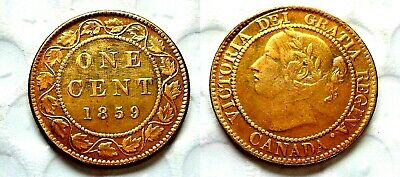 Canada Coins 1 One Cent 1859 Victoria