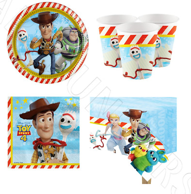 Official Disney Toy Story 4 Childrens Birthday Party Tableware Decorations For 8